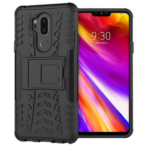 Dual Layer Rugged Tough Shockproof Case for LG G7 ThinQ - Black